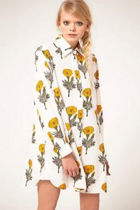 Ashish Floral Shirt Dress
