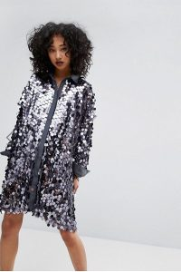 Religion silver sequin dress